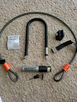 KRYPTONITE KryptoLok Series 2 U-Lock w/ 4' Cable for Sale in Silver Spring, MD