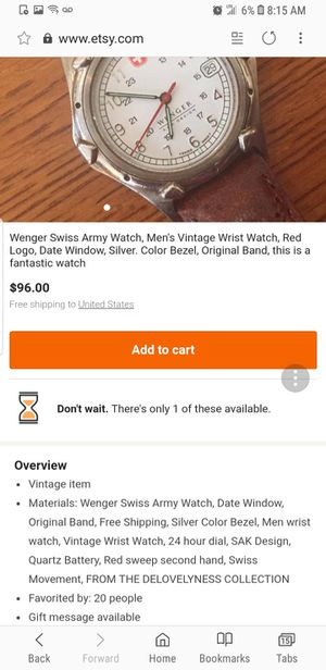 Wenger Swiss Army Watch for Sale in Washington, DC
