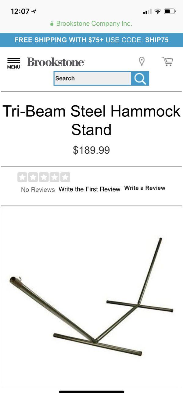 Used Tri Beam Steel Hammock Stand