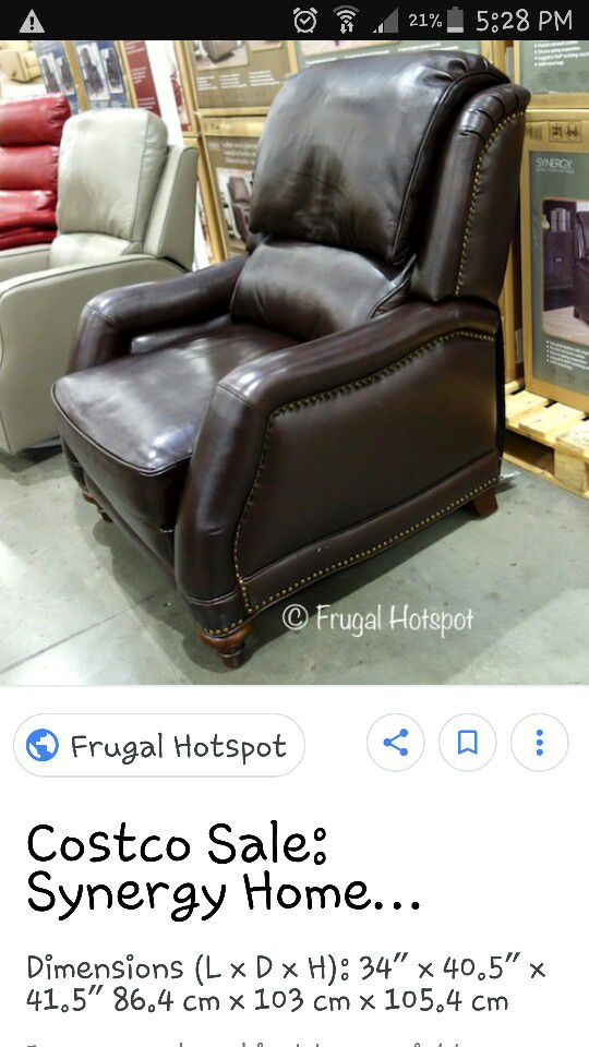 Synergy Leather Recliner for Sale in Rancho Cucamonga, CA - OfferUp