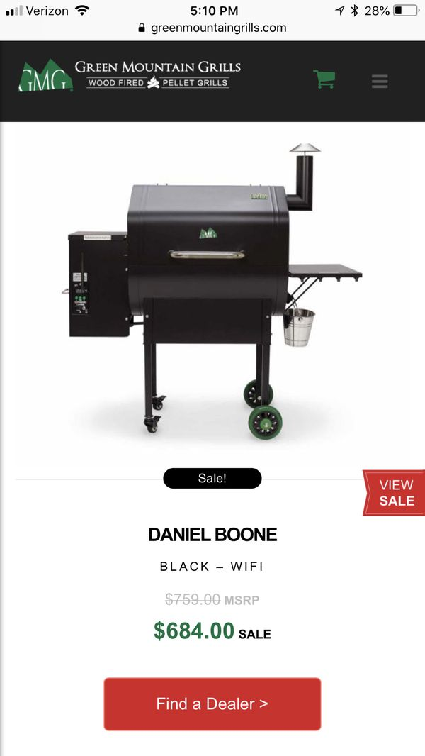 Pellet grill - Green Mountain Grills Daniel Boone WiFi for Sale in  Fountain, CO - OfferUp