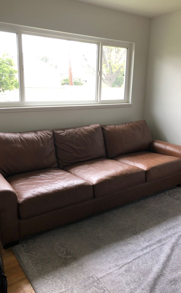 Pottery Barn Leather Grand Sofa Couch