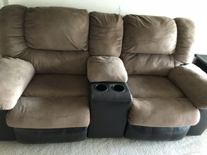 Suede Recliner Sofa Set for Sale in Fairfax, VA