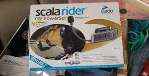 Cardo Scala Rider 4 G9 Powerset intercom. for Sale in Salt Lake City, UT