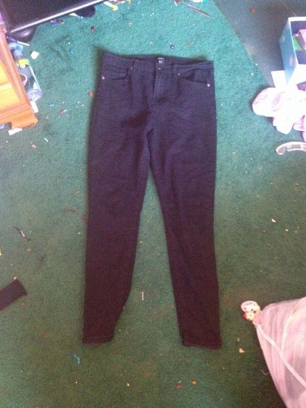 Forever 21 Black High Waiste Jeans