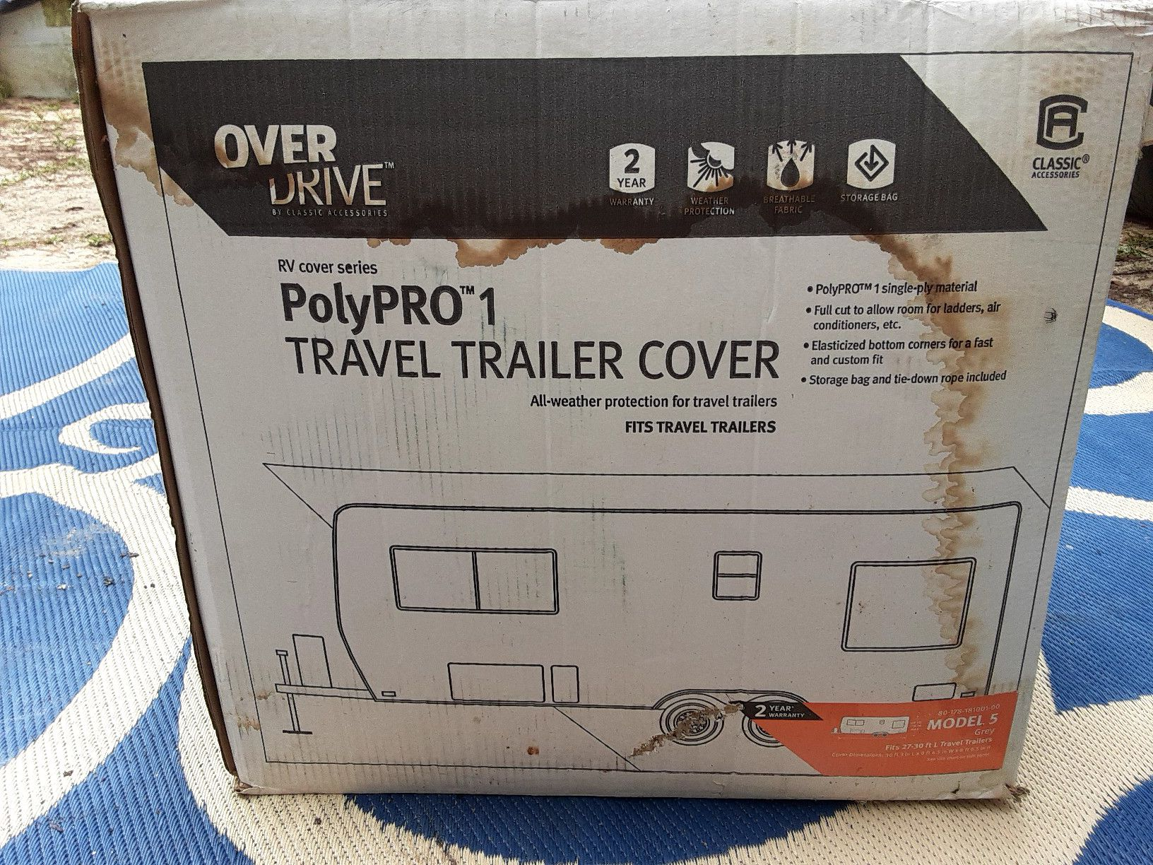 Photo Rv travel trailer cover fits from 27 to 30 ft camper