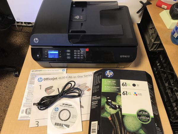 Hp Officejet 4635 Wireless Printer With 2 New Ink Cartridges For
