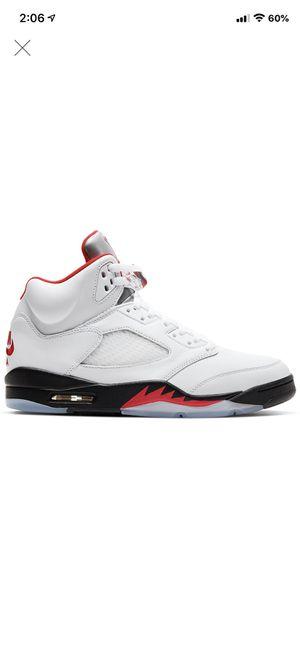 Photo Jordan 5 Retro 'Fire Red Silver Tongue' 11
