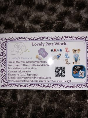 Lovely Pets World ! Consiente a tu mascota , visita nuestra tienda online for Sale in Silver Spring, MD