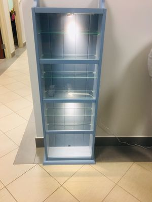 2 Blue Glass display cases. $40 for each for Sale in Fairfax, VA