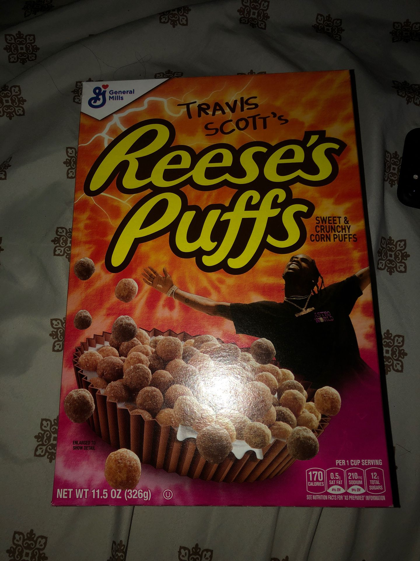 Travis Scott limited edition cereal