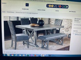 Farmhouse Dining Set - Must Go ASAP Thumbnail