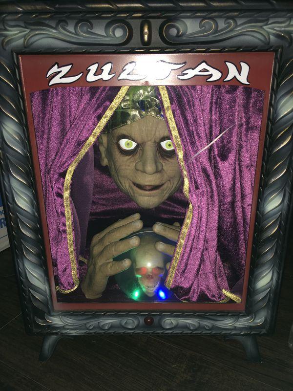 Halloween Fortune Teller Animatronic.Gemmy Zultan Animated Fortune Teller Animatronic Halloween Prop For
