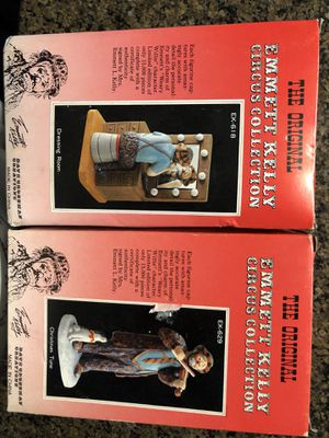Emmett Kelly Circus Collection Statues. for Sale in Orlando, FL