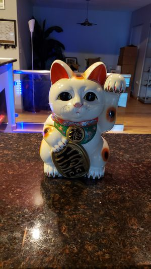 Photo Large Traditional Japanese Lucky Cat Saving Bank