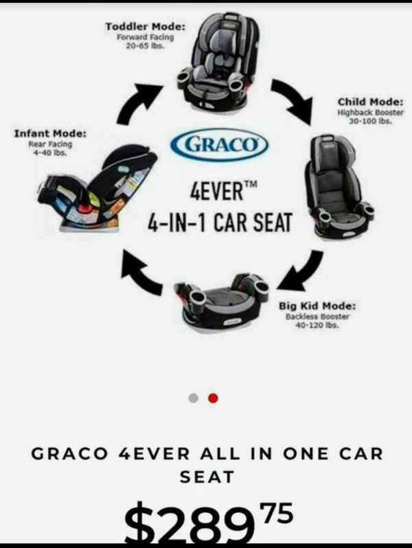 Graco 4Ever 4 In 1 Convertible Carseat And Booster Car Seat For Sale
