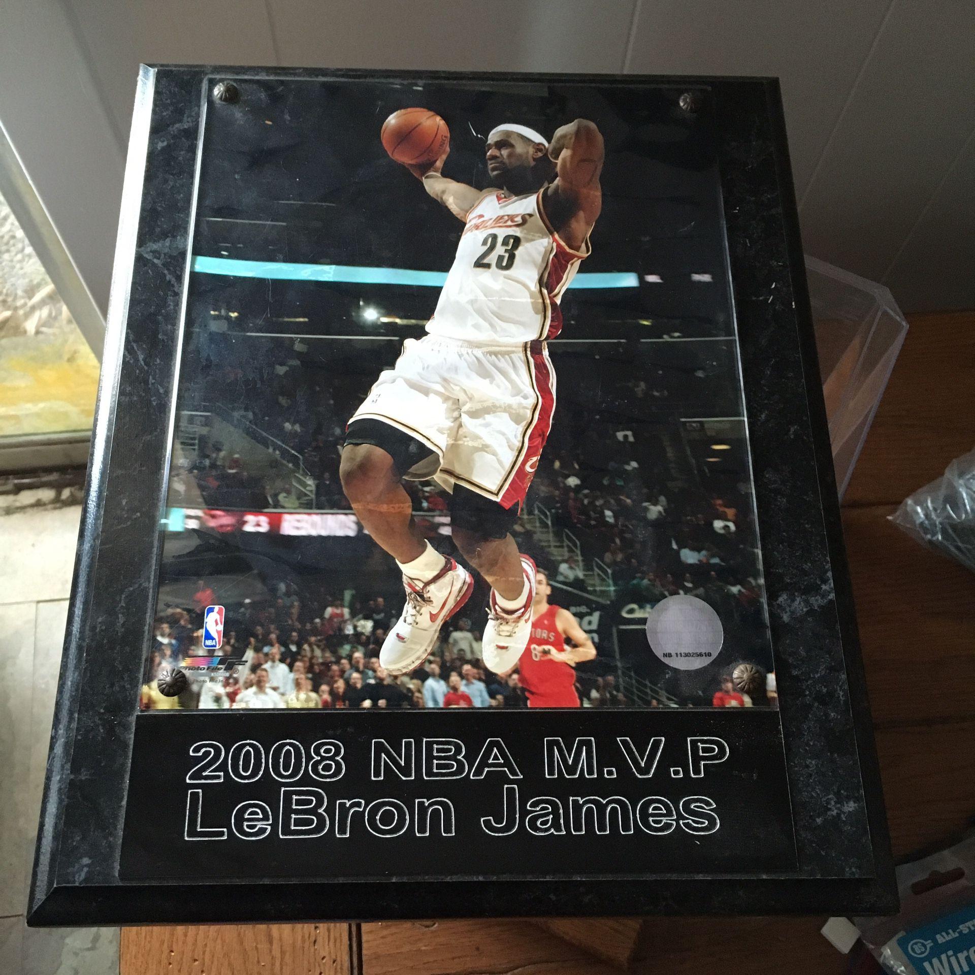 LeBron MVP Plaque