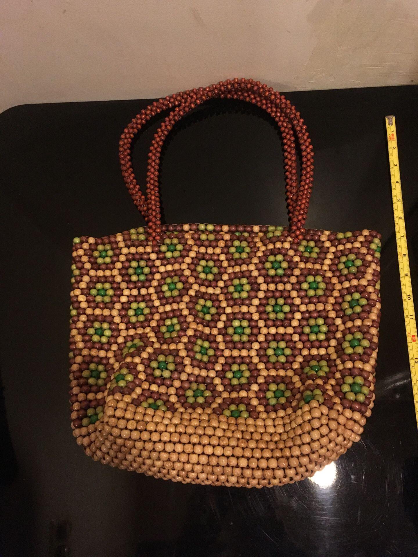 Beaded hand bag