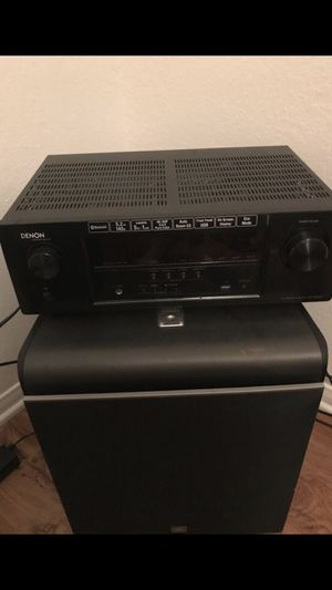 Sony speaker set with Denon Tuner. (DM about 12 inch just subwoofer) for Sale in Austin, TX