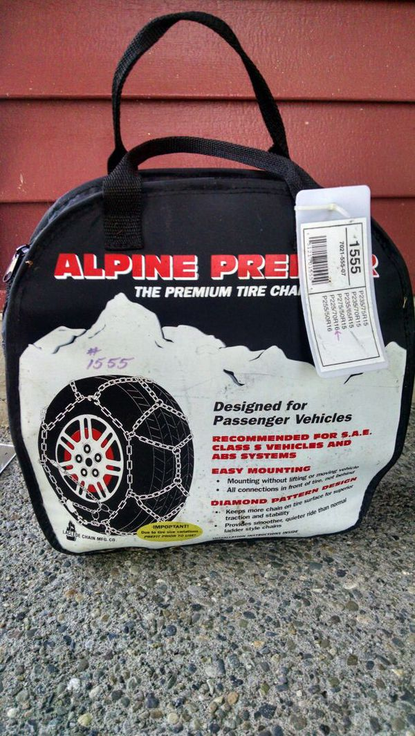 Tire Chains From Toyota Highlander