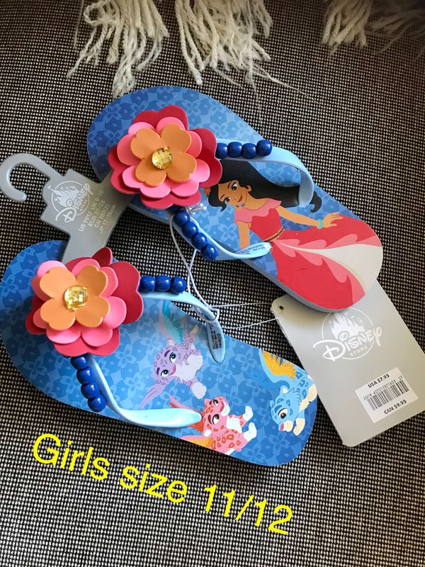 0c758f09e New Disney Elena Of Avalor Flip Flops size 11 12 (Nuevas). (Baby   Kids) in  Palmdale