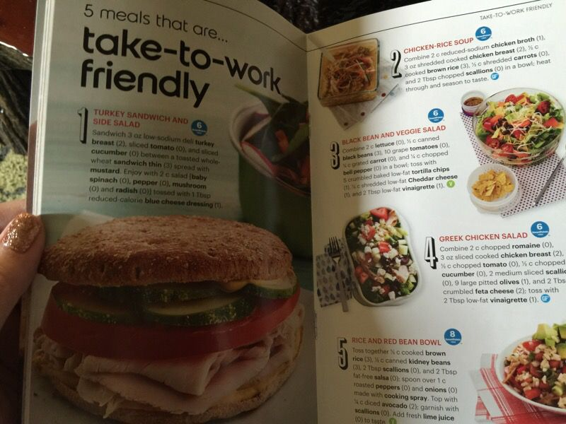 Weight Watchers planning guide book