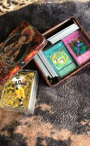 Tin full of yugioh+magic cards for Sale in Boston, MA