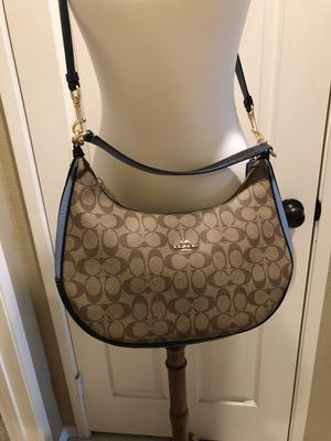 Photo Coach East/West Harley Hobo Signature Canvas Brand New w/tags!