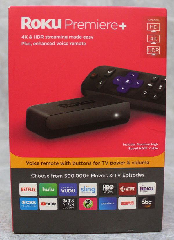 Roku Premiere Plus 3921RW HDR HD 4K Media Streamer (w/voice remote) 2018  New! for Sale in WI, US - OfferUp