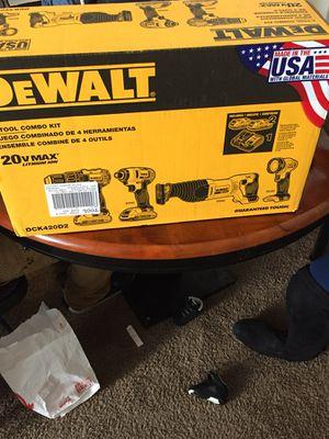 Dewalt 20 volt combo kit 20 v for Sale in Columbus, OH
