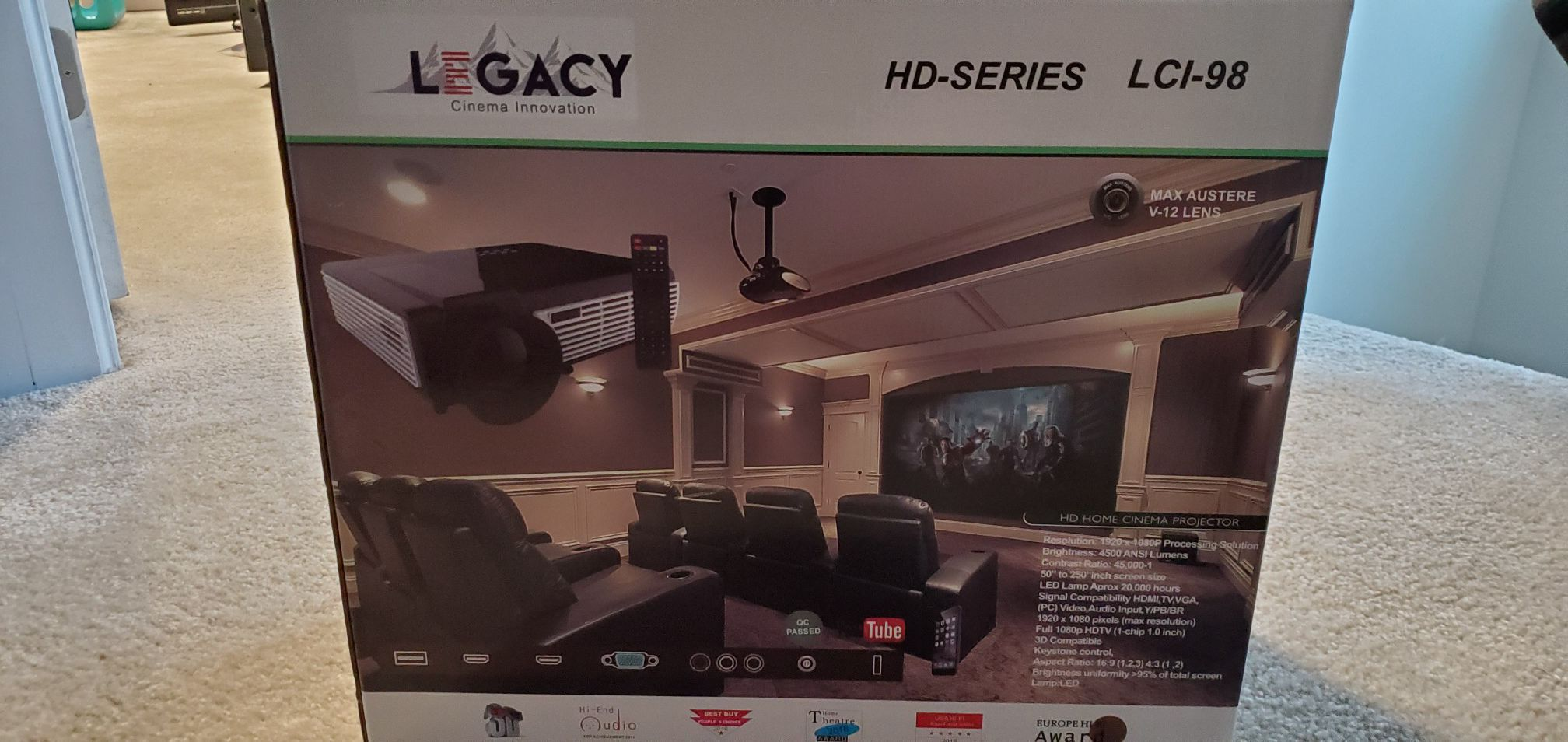 IN HOME PROJECTOR SETUP MSRP-$4,356