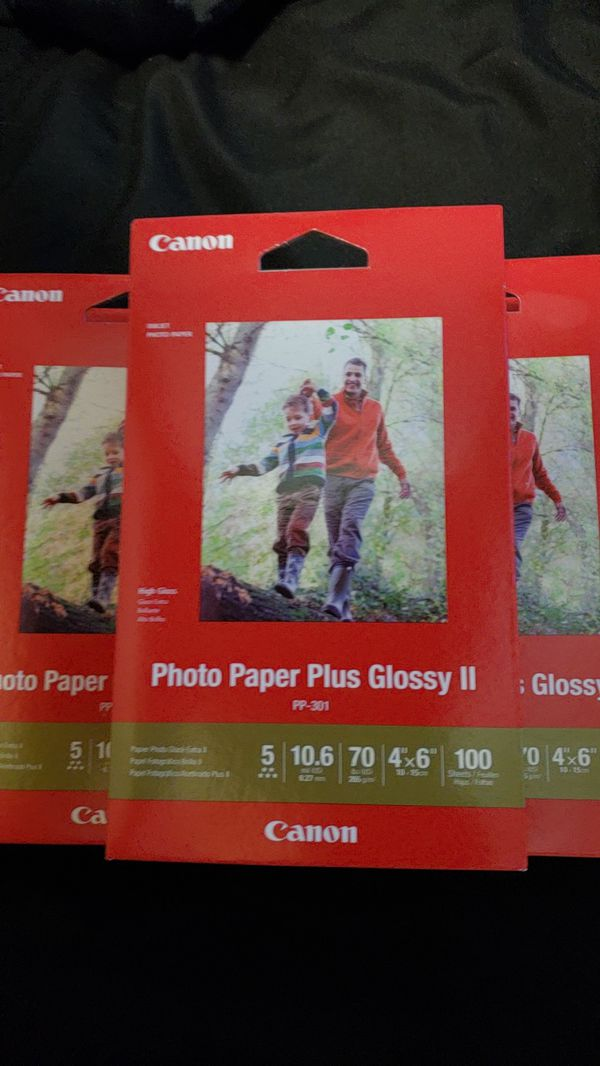 Canon Photo Paper Plus Glossy Ii 4x6 100 Sheets For Sale In Rock