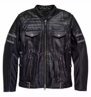Photo Harley Davidson Mens Leather Jacket Medium / Large