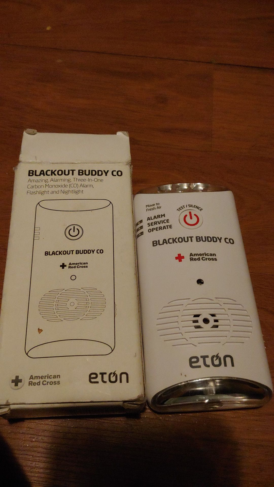 Carbon monoxide alarm and nightlight