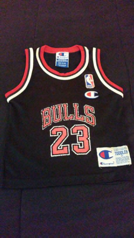 a9a5aa799f82 Vintage Champion Jordan Toddler Jersey for Sale in Lancaster