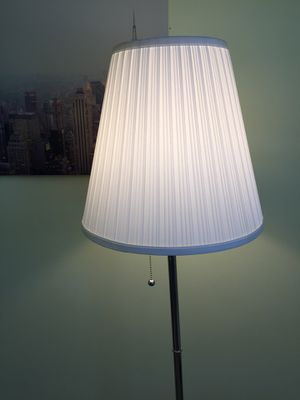 IKEA white cloth cover lamp with bulb in90% new for Sale in Herndon, VA