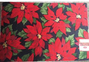 Christmas Holiday Poinsettia Printed Accent Rug by St. Nicholas Square for Sale in Union City, CA