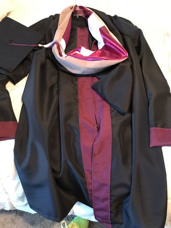 Texas Woman\'s University (TWU) cap & gown for Masters degree for ...