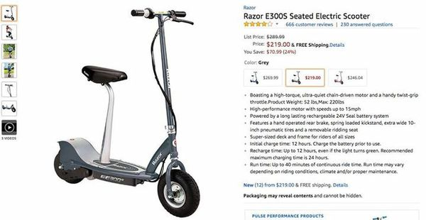 Razor E300s Electric Scooter New Never Used For Sale In Henderson