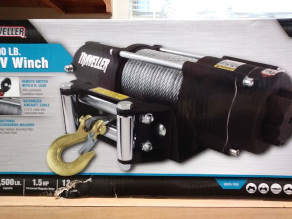 Winch traveller 4,500 LB 1 5hp 12 v nuvo for Sale in Fort Worth, TX -  OfferUp