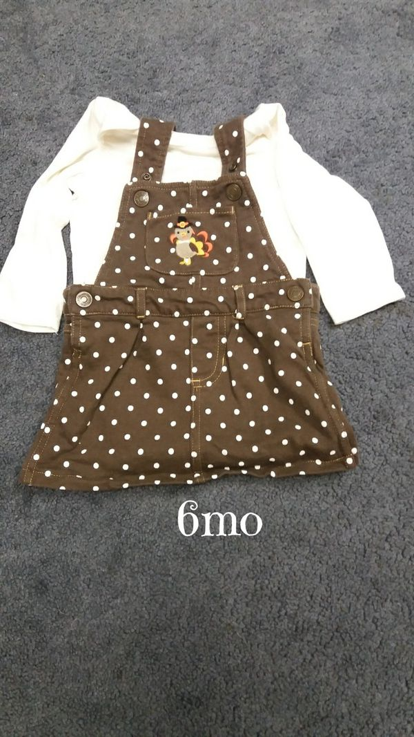 2de470fe4 Baby girl 6mo thanksgiving outfit $3 for Sale in Monroeville, PA - OfferUp