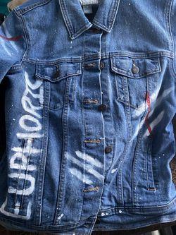 hand painted jean jacket Thumbnail