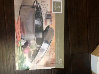 Stainless steel roaster Thumbnail