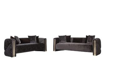 Scarlett Charcoal Sofa & Loveseat 🚚 DELIVERY INCLUDED Thumbnail
