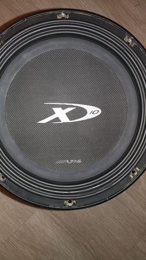 Photo Alpine Type X 10-inch sub - no box, hits very hard!