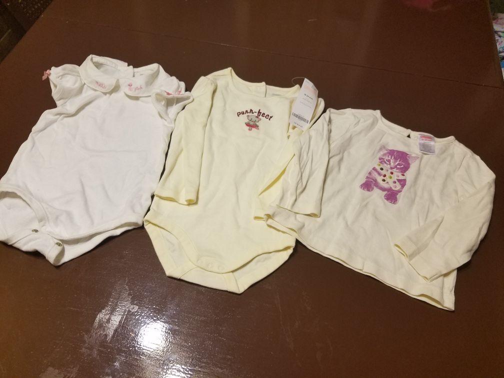 Sz 18-24M little girl blouses