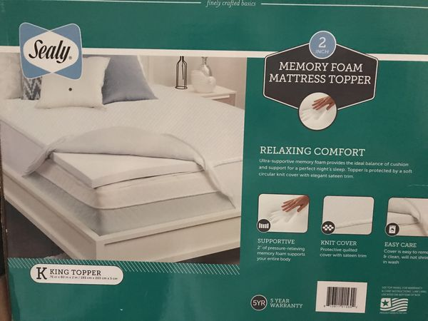 Sealy 2 Memory Foam Mattress Topper Retail 380 For Sale In Allen