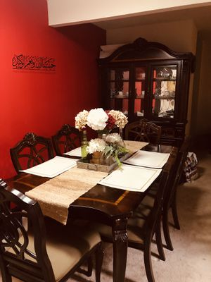 Cherry Wood Table Set for Sale in Silver Spring, MD