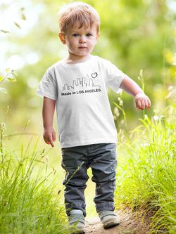 Smartprints Made In Los Angeles Cityscape T-shirt Baby's -SmartPrintsInk Designs White Size 6M Thumbnail