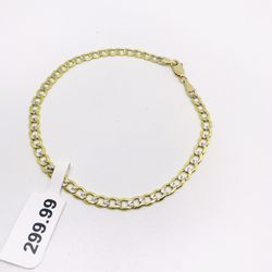 10Kt Gold Diamond cut bracelet available on special offer Thumbnail